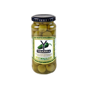 Ybarra Stuffed Olives-Jalapeno – 400g